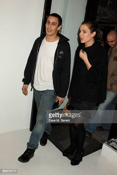 Alex Dellal and Charlotte Casiraghi attend the private view of Rene Ricard's latest exhibition 'What Every Young Sissy Should Know' at the Scream...