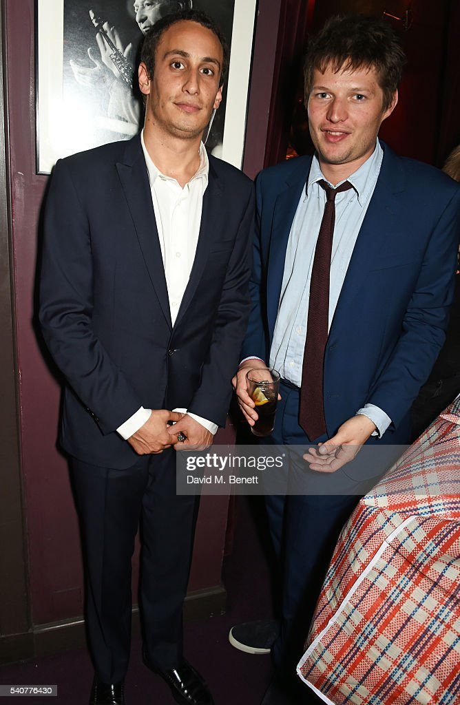 Alex Dellal (L) and Count Nikolai von Bismarck attend 'Hoping's Greatest Hits', the 10th anniversary of The Hoping Foundation's fundraising event for Palestinian refugee children hosted by Bella Freud and Karma Nabulsi, at Ronnie Scott's on June 16, 2016 in London, England.