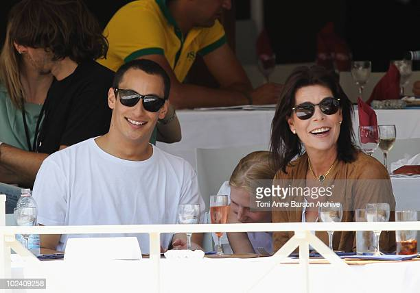 Alex Dellal and HSH Princess Caroline of Hanover attends the 15th Monte Carlo International Jumping on June 25 2010 in MonteCarlo Monaco