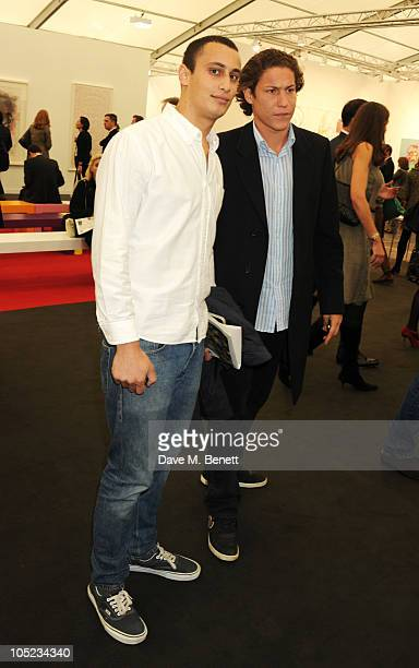 Alex Dellal and Vito Schnabel attend the VIP preview of the Frieze Art Fair at Regent's Park on October 13 2010 in London England
