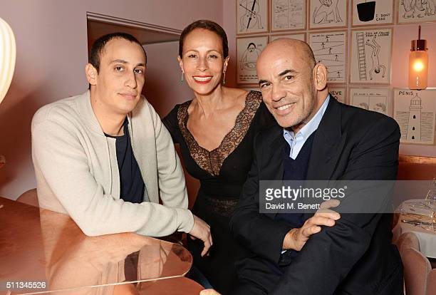 Alex Dellal Andrea Dellal and Guy Dellal attend as James Gager Senior Vice President Group Creative Director of MAC Cosmetics and Charlotte Olympia...