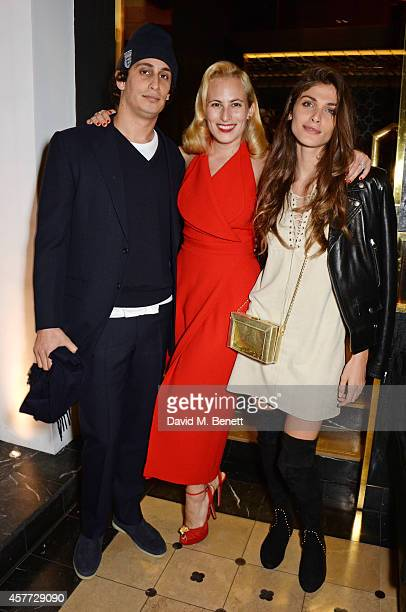 Alex Dellal Charlotte Olympia Dellal and Elisa Sednaoui attend the Charlotte Olympia 'Handbags for the Leading Lady' launch dinner at Toto's...