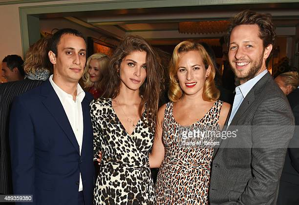Alex Dellal Elisa Sednaoui Charlotte Dellal and Derek Blasberg attend a private dinner celebrating the Charlotte Olympia SS16 Collection during LFW...