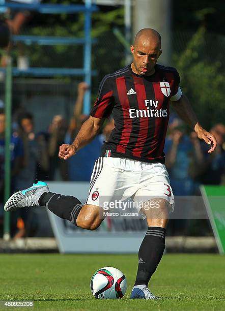 Alex Dias da Costa of AC Milan in action during the preseason friendly match between AC Milan and Legnano on July 14 2015 in Solbiate Arno Italy