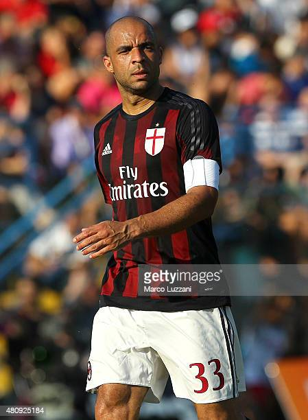 Alex Dias da Costa of AC Milan looks on during the preseason friendly match between AC Milan and Legnano on July 14 2015 in Solbiate Arno Italy