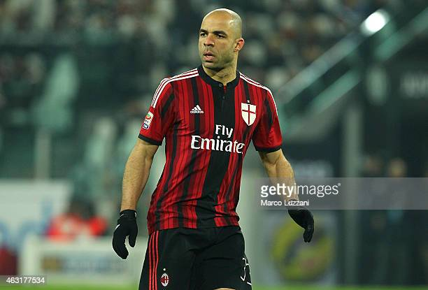 Alex Dias da Costa of AC Milan looks on during the Serie A match between Juventus FC and AC Milan at Juventus Arena on February 7 2015 in Turin Italy