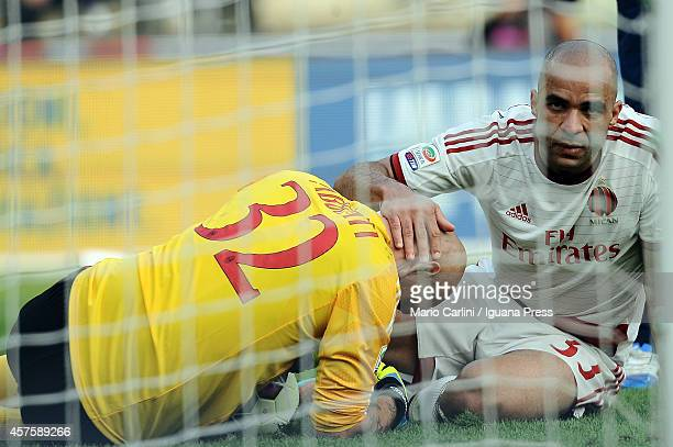 Alex Dias Da Costa of AC Milan looks on during the Serie A match between Hellas Verona FC and AC Milan at Stadio Marc'Antonio Bentegodi on October 19...