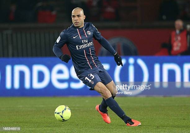 Alex Dias Da Costa of PSG in action during the french Ligue 1 match between Paris SaintGermain FC and Montpellier Herault SC at the Parc des Princes...