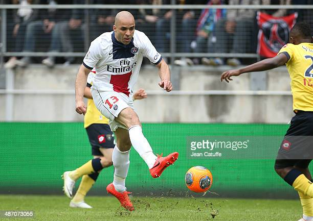 Alex Dias Da Costa of PSG in action during the French Ligue 1 match between FC Sochaux Montbeliard and Paris SaintGermain FC at Stade Bonal on April...