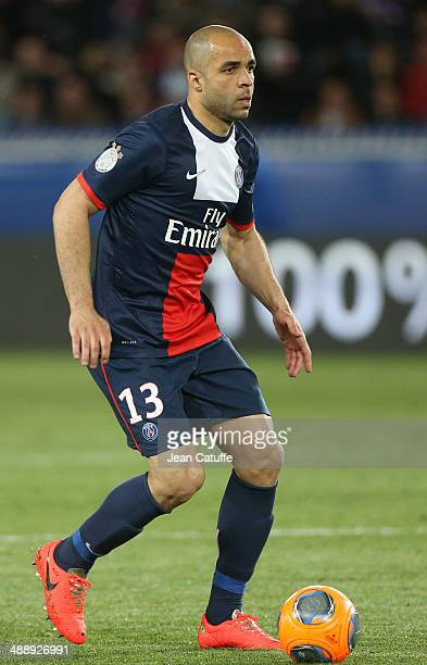 Alex Dias Da Costa of PSG in action during the french Ligue 1 match between Paris SaintGermain FC and Stade Rennais FC at Parc des Princes stadium on...