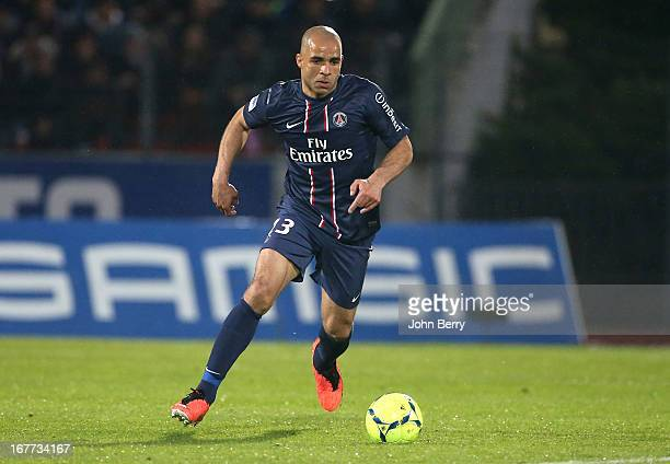 Alex Dias Da Costa of PSG in action during the Ligue 1 match between Evian Thonon Gaillard FC ETG and Paris Saint Germain FC PSG at the Parc des...