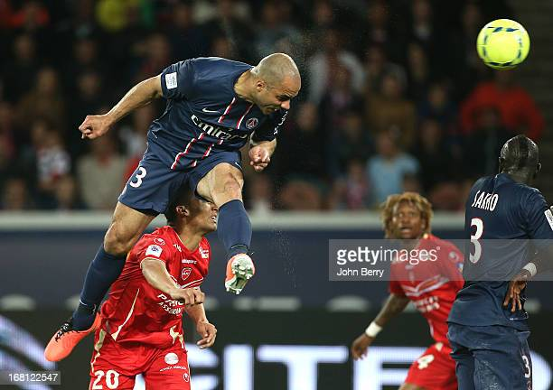 Alex Dias Da Costa of PSG in action during the Ligue 1 match between Paris SaintGermain FC and Valenciennes FC at the Parc des Princes stadium on May...
