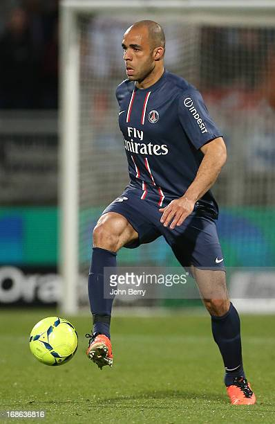 Alex Dias Da Costa of PSG in action during the Ligue 1 match between Olympique Lyonnais OL and Paris SaintGermain FC PSG at the Stade Gerland on May...