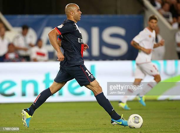 Alex Dias Da Costa of PSG in action during the Ligue 1 match between Paris Saint Germain FC and AC Ajaccio at the Parc des Princes stadium on August...