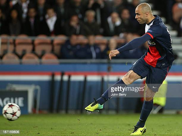 Alex Dias Da Costa of PSG in action during the UEFA Champions League match between Paris SaintGermain FC and RSC Anderlecht at the Parc des Princes...