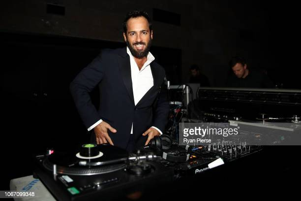 Alex Dimitriades aka Boogie Monster performs during the NGV Gala 2018 at National Gallery of Victoria on December 1 2018 in Melbourne Australia