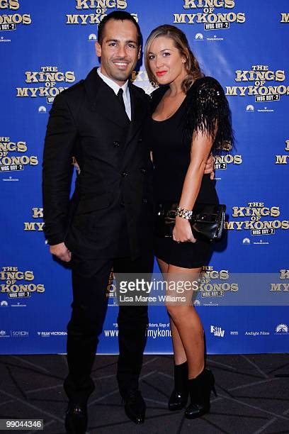 Alex Dimitriades and Angie Lake attend the premiere of 'The Kings of Mykonos Wog Boy 2' at Event Cinemas Bondi Junction on May 12 2010 in Sydney...