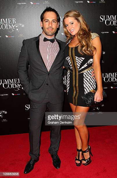 Alex Dimitriades and Anji Lake arrive for the Melbourne premiere of 'Summer Coda' on October 19 2010 in Melbourne Australia