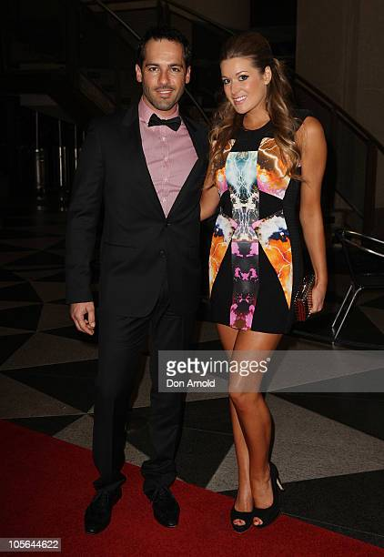 Alex Dimitriades and Anji Lake arrive for the Sydney Premiere of 'Summer Coda' at the Dendy Opera Quays on October 18 2010 in Sydney Australia