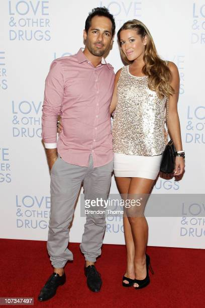 Alex Dimitriades and Anji Lake attend the Sydney premiere of 'Love Other Drugs' at Event Cinemas George Street on December 6 2010 in Sydney Australia