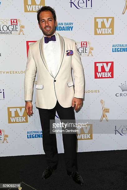 Alex Dimitriades arrives at the 58th Annual Logie Awards at Crown Palladium on May 8 2016 in Melbourne Australia