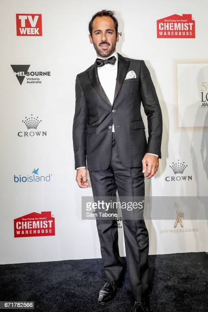 Alex Dimitriades arrives at the 59th Annual Logie Awards at Crown Palladium on April 23 2017 in Melbourne Australia