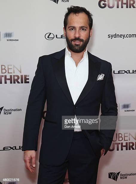 Alex Dimitriades arrives at the Ruben Guthrie Gala Screening on July 9 2015 in Sydney Australia