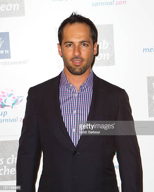 Alex Dimitriades arrives at the VRC Oaks Club Ladies Luncheon at Crown Palladium on November 2 2011 in Melbourne Australia