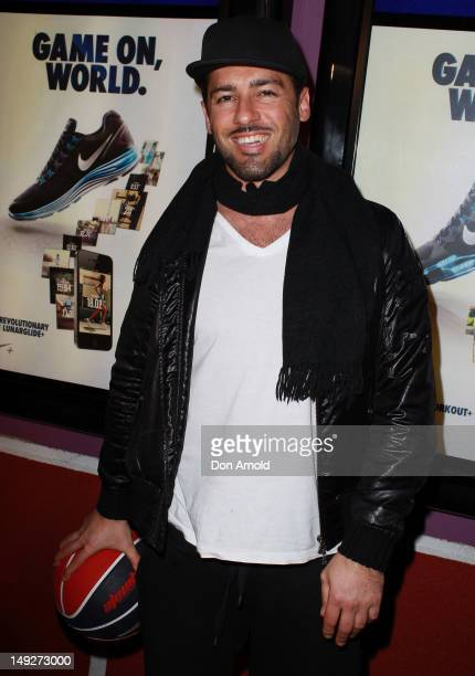 Alex Dimitriades attends the launch party for the Nike Innovation Pop Up Store at Oxford Street Paddington on July 26 2012 in Sydney Australia