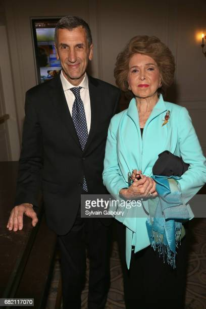 Alex Dirocco and Nina Weiner attend Mrs Lily Safra Honored at ISEF Foundation's 40th Anniversary at Intercontinental New York Barclay on May 11 2017...