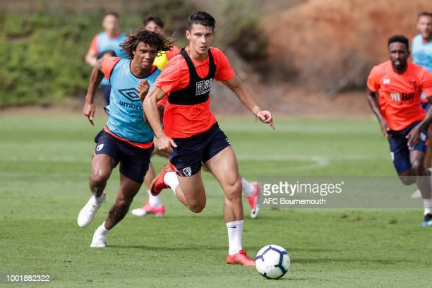 Alex Dobre of Bournemouth during preseason training on July 19 2018 in La Manga Spain