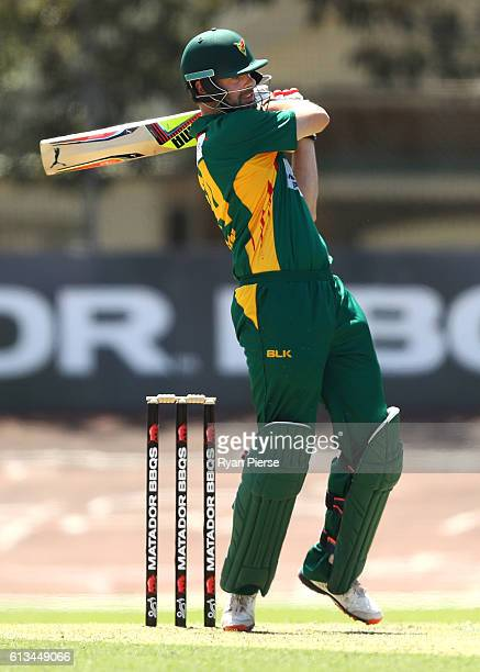 Alex Doolan of the Tigers bats during the Matador BBQs One Day Cup match between New South Wales and Tasmania at Hurstville Oval on October 9 2016 in...