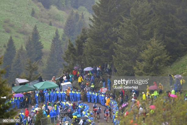 Alex Dowsett of Great Britain and Team KatushaAlpecin / Frederik Frison of Belgium and Team Lotto Soudal / climb to the finish Monte Zoncolan /...