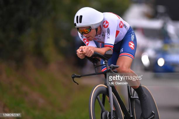 Alex Dowsett of Great Britain / during the 26th UEC Road European Championships 2020 - Men's Elite Individual Time Trial a 25,6km race from Plouay to...