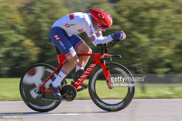 Alex Dowsett of Great Britain during the Men Elite Individual Time Trial at the UCI 2018 Road World Championships on September 26, 2018 in...
