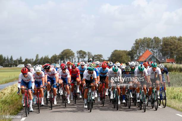 Alex Dowsett of Great Britain / Edward Theuns of Belgium / Pascal Ackermann of Germany / Michael Schwarzmann of Germany / Peloton / during the 25th...