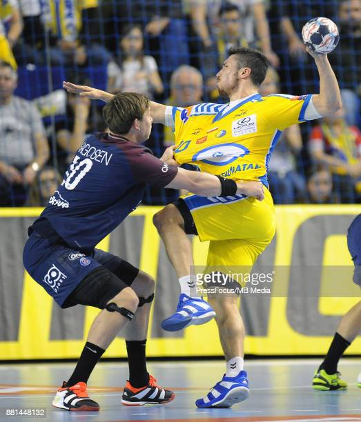 Alex Dujshebaev Dujszebajew during the EHF Men's Champions League Game between PGE Vive Kielce and PSG Handball on November 26 2017 in Kielce Poland