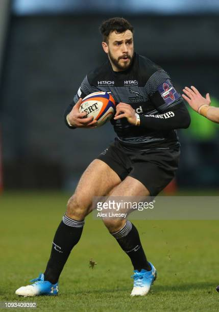 Alex Dunbar of Newcastle Falcons during the Premiership Rugby Cup match between Sale Sharks and Newcastle Falcons at AJ Bell Stadium on February 3,...