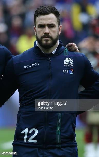 Alex Dunbar of Scotland looks on before the RBS 6 Nations tournament match between France and Scotland at Stade de France on February 12, 2017 in...
