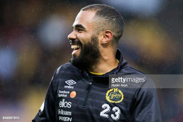 Alex Dyer of IF Elfsborg warm up before the Allsvenskan match between IF Elfsborg and Djurgardens IF at Boras Arena on September 19 2017 in Boras...