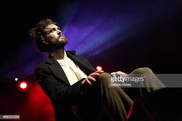 Alex Ebert of Edward Sharpe and The Magnetic Zeroes performs at The Olympia on February 9 2014 in Dublin Ireland