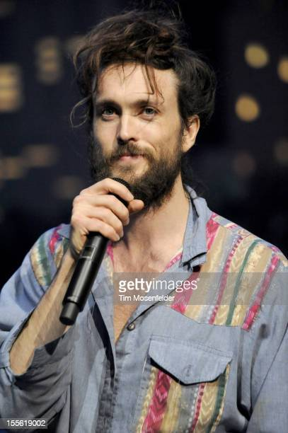 Alex Ebert of Edward Sharpe and the Magnetic Zeroes performs during the bands' Austin City Limits taping at the Moody Theater on November 5 2012 in...