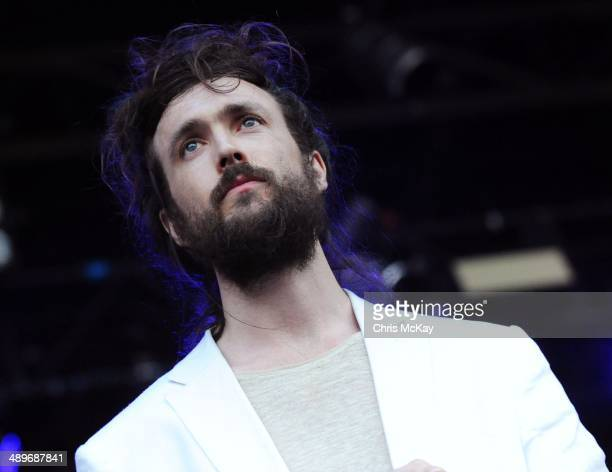 Alex Ebert of Edward Sharpe And The Magnetic Zeroes performs during the 2nd Annual Shaky Knees Music Festival at Atlantic Station on May 11 2014 in...