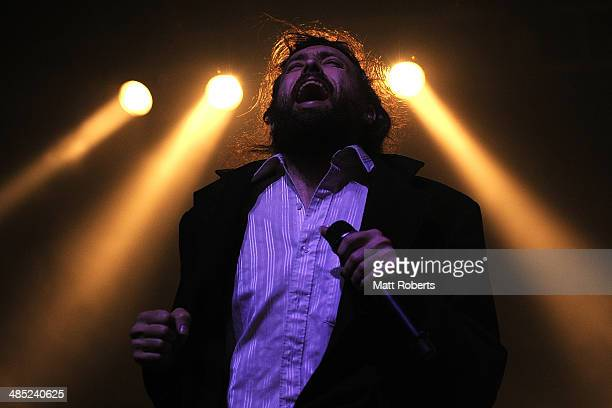 Alex Ebert of Edward Sharpe and The Magnetic Zeros performs live for fans at the 2014 Byron Bay Bluesfest on April 17 2014 in Byron Bay Australia