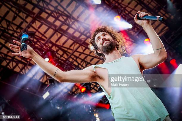 Alex Ebert of Edward Sharpe and the Magnetic Zeros performs on Day 3 of the Osheaga Music and Art Festival on August 2 2015 in Montreal Canada