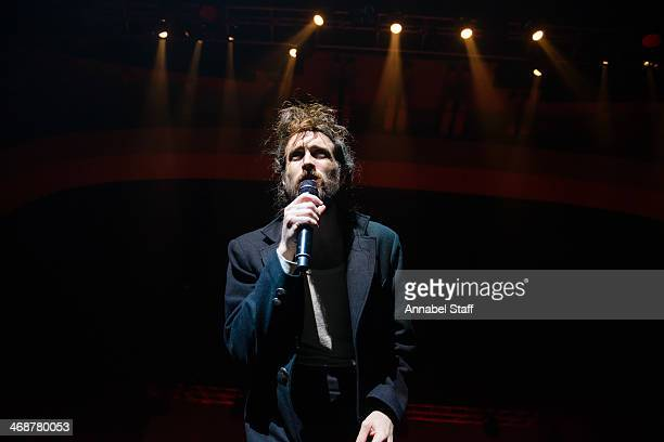 Alex Ebert of Edward Sharpe and The Magnetic Zeros performs on stage at Brixton Academy on February 11 2014 in London United Kingdom