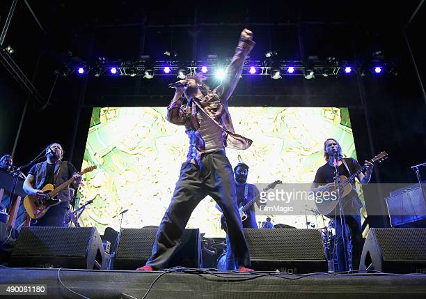 Alex Edward Sharpe and the Magnetic Zeros perform onstage during day 1 of the 2015 Life is Beautiful festival on September 25 2015 in Las Vegas Nevada