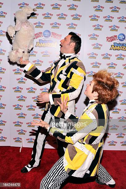 Alex Emelin and Irina Emelin attend Ringling Bros And Barnum Bailey Present Built To Amaze on March 21 2013 in New York City