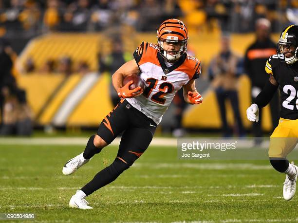 Alex Erickson of the Cincinnati Bengals in action during the game against the Pittsburgh Steelers at Heinz Field on December 30 2018 in Pittsburgh...