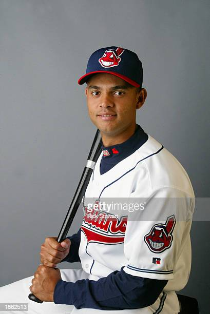 Alex Escobar of the Cleveland Indians poses for a portrait during the Indians' media day on February 26 2003 at Chain of Lakes Park in Winter Haven...